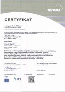 Certyfikat IFS
